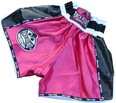 Punch Round™ Carbon Neo Pink Ladies Muay Thai Kickboks Broekjes