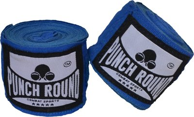 Punch Round™ Perfect Stretch Hand Wraps Blauw Bandages 260 cm
