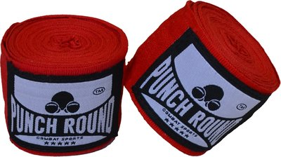 Punch Round™ Perfect Stretch Hand Wraps Red Bandages 260 cm