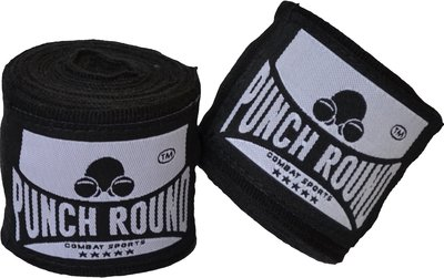 Punch Round™ Perfect Stretch Hand Wraps Zwart Bandages 260 cm