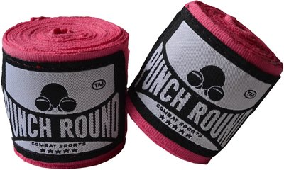 Punch Round™ Perfect Stretch Hand Wraps Roze Bandages 260 cm