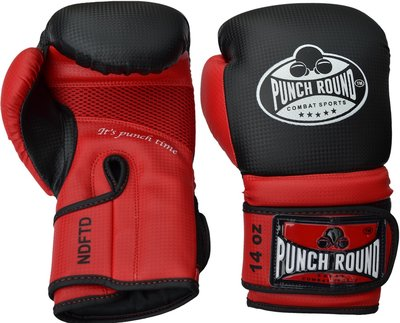 Punch Round™ Carbonix Bokshandschoenen Matte Black Red