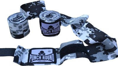 Punch Round™ Perfect Stretch Camo Black White Bandages 460 cm