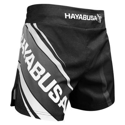 Hayabusa Muay Thai Kickboxing Shorts 2.0 Black Grey Kickboks Broekjes