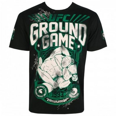 UFC Ground Game T Shirts Black UFC Kleding