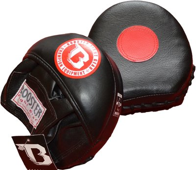 Booster BPM Mini Mitts Pads Leather Zwart Rood