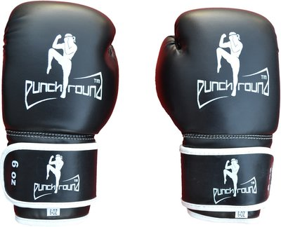 Punch Round™ Kids Muay Thai Fighter Bokshandschoenen Zwart