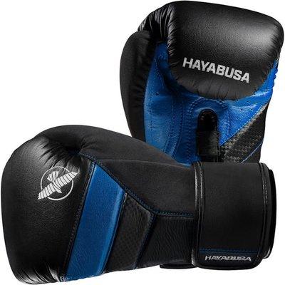 HAYABUSA T3 BOKSHANDSCHOENEN BOXING GLOVES BLACK BLUE