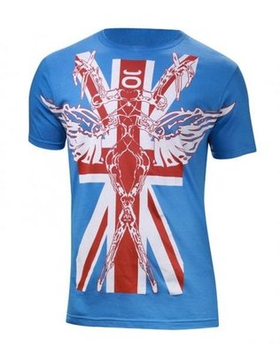 Tenacity UK Walkout MMA T Shirt Blue by Tenacity Clothing