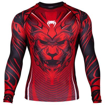 Venum Compression Shirt Bloody Roar Rashguards L/S Zwart Rood