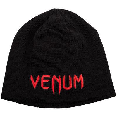 Venum Beanie Classic Black Red Muts Venum Fightwear