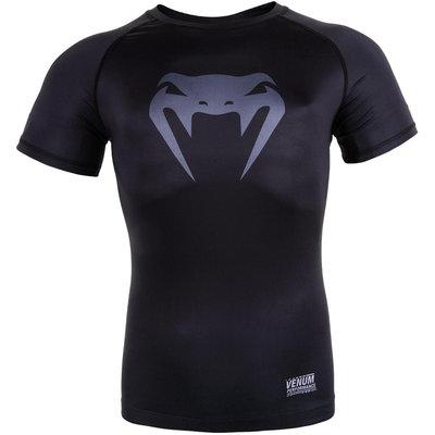 Venum Contender 3.0 Compression T Shirts S/S Zwart Grijs
