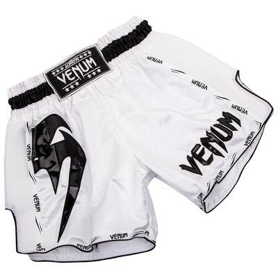 Venum Muay Thai Broekjes Giant Wit Zwart Venum Fightstore