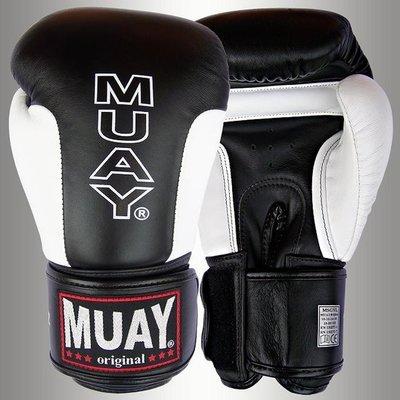 MUAY® Premium Bokshandschoenen Black Leather Boxing Gloves