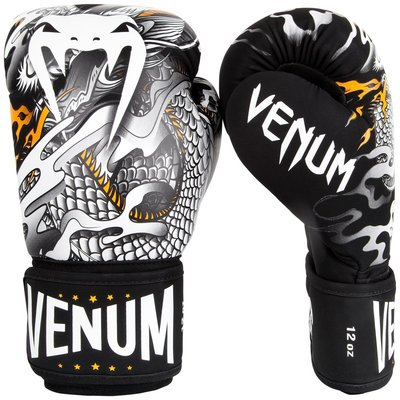 Venum (Kick)Bokshandschoenen Dragon's Flight Black White