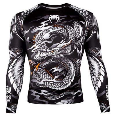 Rashguard Dragon's Flight Zwart L/S Venum Shop Nederland