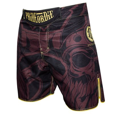MMA Shorts PRIDE or DIE Fight Shorts Brotherhood