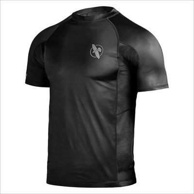 Hayabusa Haburi Rash Guard S/S Black Compression Shirt
