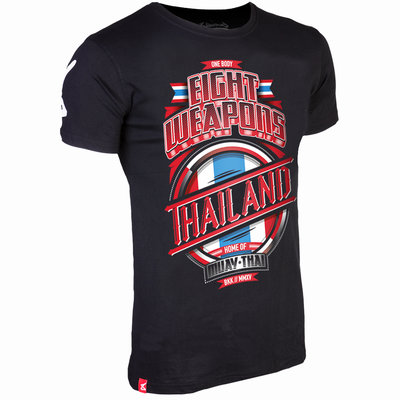 8 Weapons T Shirt Mighty Thailand Kickboks T Shirt