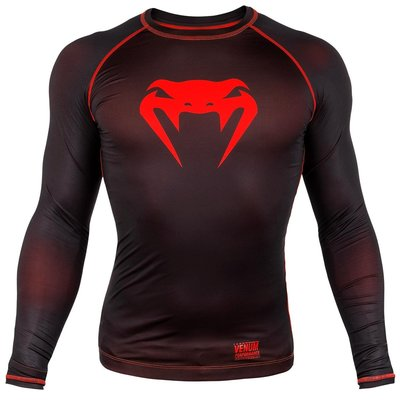 Venum Contender 3.0 Compression T Shirts L/S Zwart Rood