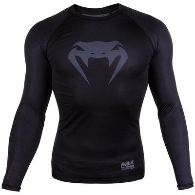 Venum Contender 3.0 Compression T Shirts L/S Zwart Grijs