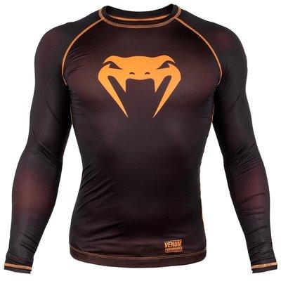 Venum Kleding Contender 3.0 T Shirts L/S Zwart Oranje