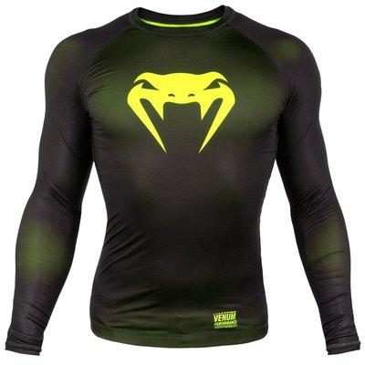 Venum Kleding Contender 3.0 T Shirts L/S Zwart Geel