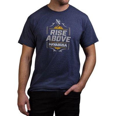 Hayabusa Vechtsport Kleding T Shirt Rise Above Blauw