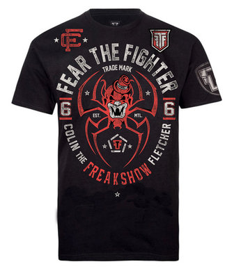 Fear The Fighter Colin The Freak Show UFC T Shirts MMA Kleding