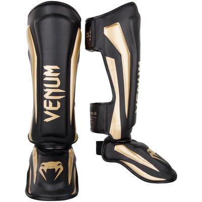 Venum Elite Stand Up Kickboks Scheenbeschermer Zwart Goud