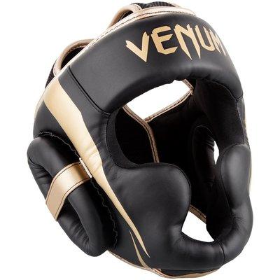 Venum Elite Headgear Hoofdbeschermer Zwart Goud