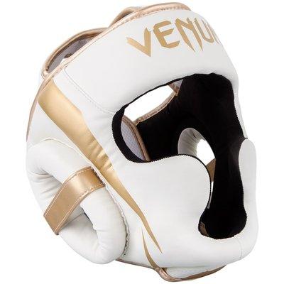 Venum Elite Headgear Hoofdbeschermer Wit Goud