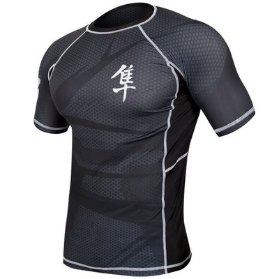 Metaru 47™ Rashguard Hayabusa® Short Sleeve Black
