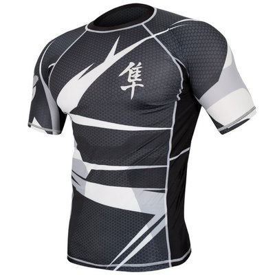 Metaru 47™ Rashguard Hayabusa® Short Sleeve Black White