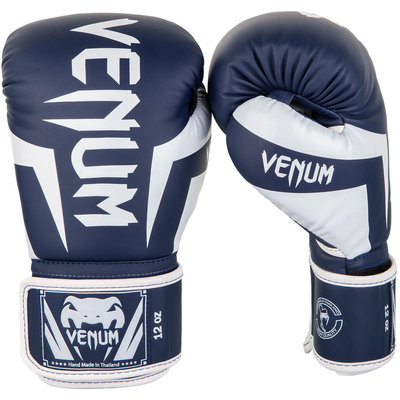Venum Kickboks Bokshandschoenen EliteNavy Blue White