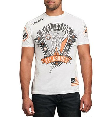 Affliction Cain Velasquez Devotion T Shirt White
