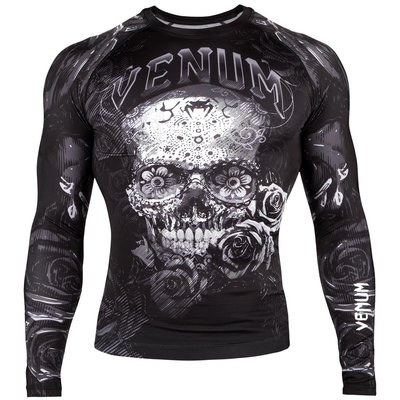 Venum Rash Guards Santa Muerte 3.0 L/S Zwart Wit