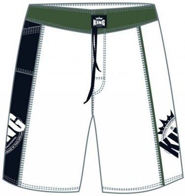 MMA Shorts King MMA-1 Fightshorts White Trunk