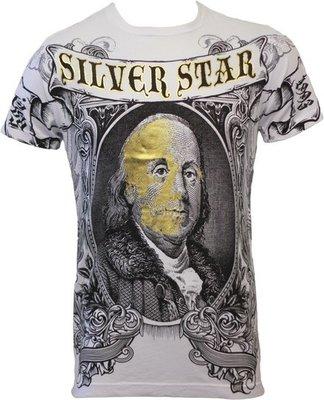 Silver Star 100 Dollar Foil T Shirts
