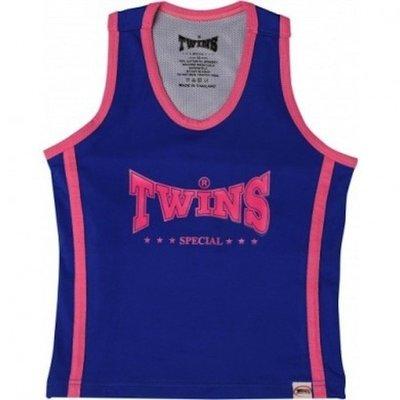 Vechtsport Kleding  Twins dames topje Blue Pink met sport bh TSB-1