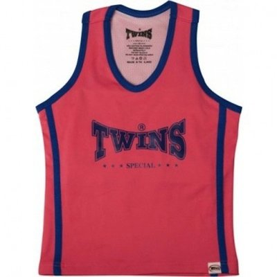 Twins dames topje Pink Blue met sport bh TSB-1 by Twins