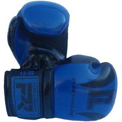 Punch Round Bokshandschoenen SLAM Blauw Zwart Shine