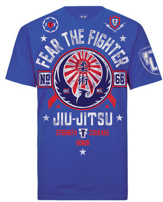 Fear the Fighter Jiu Jitsu T Shirts Blue