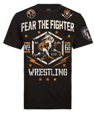 Fear The Fighter Wrestling T-Shirt Size XL