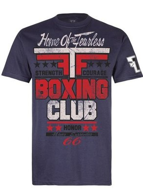 Fear the Fighter Boxing Club 2.0 T Shirts Blue