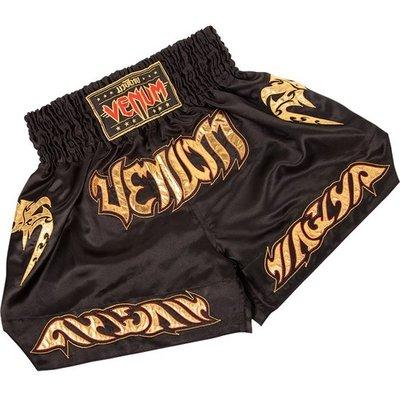 Venum Tribal Muay Thaï Black Gold Fight Shorts