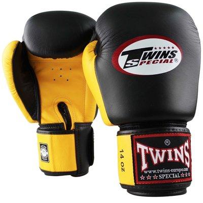 Twins Bokshandschoenen BGVL 3 Zwart Geel Leder