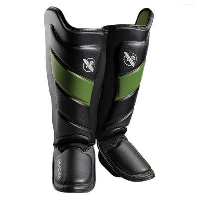 Hayabusa T3 Kickboks Scheenbeschermers Zwart Groen