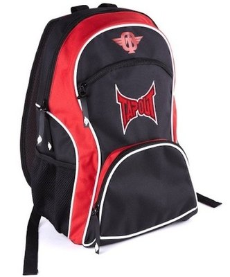 TapouT Nylon Rugzak Backpack Black Red