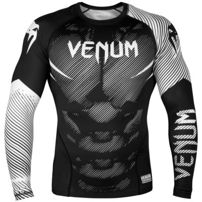 Venum NOGI 2.0 Rash Guard L/S Zwart Wit Compression Shirt